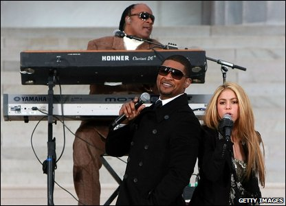 Shakira, Stevie Wonder and Usher
