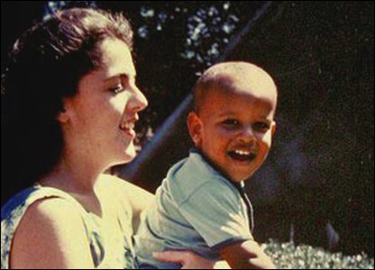 Barack Obama and his mum