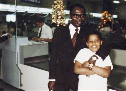 Barack Obama and his dad