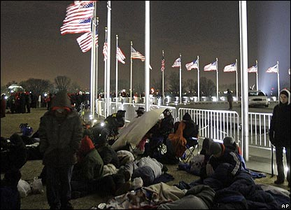 People camping in Washington DC