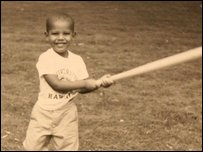 Barack as a child