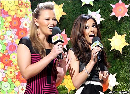 Kimberly and Cheryl from Girls Aloud