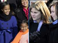Malia and Sasha, Jenna Bush Hager and Barbara Bush