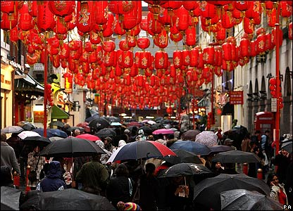 In London the wet weather didn't stop people taking to the streets for celebrations.