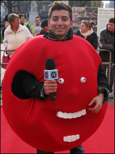 Ricky in a red nose costume