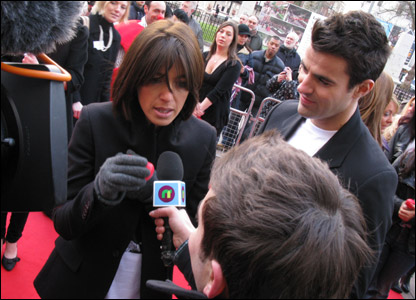 Claudia Winkleman and Steve Jones with Ricky