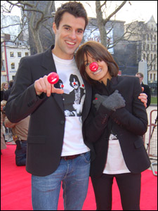 Steve Jones and Claudia Winkleman