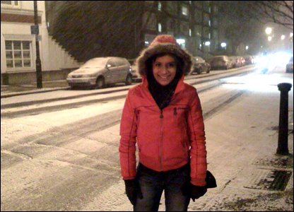Sonali in the snow