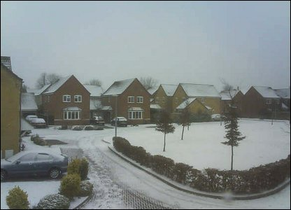 Snow scene in Cambridgeshire