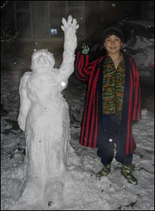 Jacob and snowman