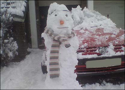 A snowman sent in by Georgia