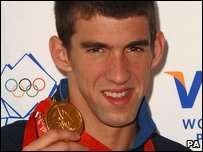 Michael Phelps (Photo by Zak Hussein/PA Wire)