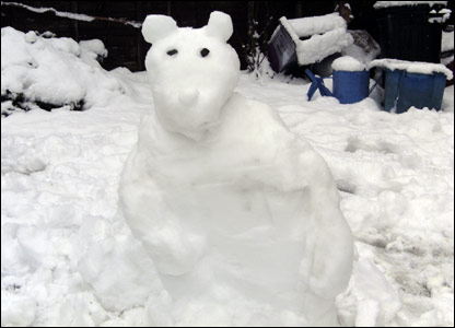 Chloe and Oliver's snow bear