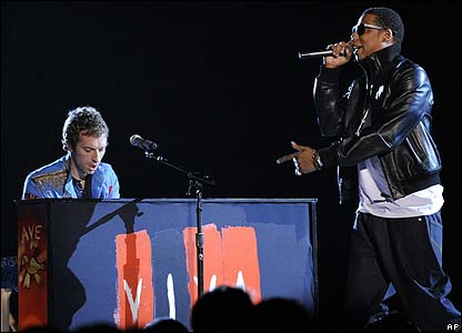 Chris Martin and Jay-Z