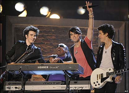 The Jonas Brothers and Stevie Wonder