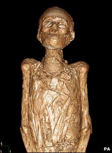 Egyptian mummy  (photo by Philips Healthcare and University of Chicago/PA Wire)