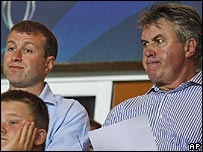 Roman Abramovich and Guus Hiddink