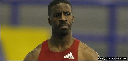 Dwain Chambers at the European Indoor Trials and UK Championships in Sheffield