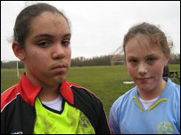 Kara and Sophie from Birchwood Juniors