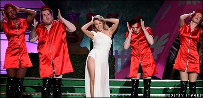 Kylie Minogue, James Corden and Matt Horne