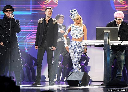 Pet Shop Boys, Lady Gaga and Brandon Flowers