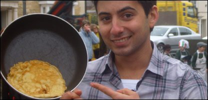 Ricky with his pancake