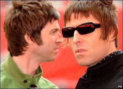 Noel and Liam Gallagher from Oasis