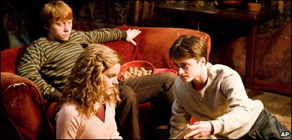 Rupert Grint, Emma Watson and Daniel Radcliffe in a still from Harry Potter and the Half-Blood Prince