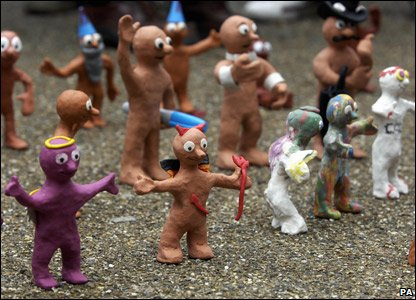 Some of the Morph figures made by fans of Tony Hart