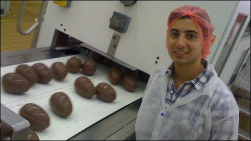Ricky in a chocolate factory