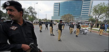 Police in Lahore in Pakistan