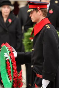 Prince William lays a wreath  (Photo by Chris Jackson/Getty Images)