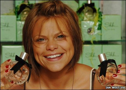 Jade Goody at perfume launch
