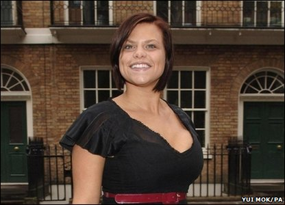 Jade Goody arrives for her reality show Jade's PA