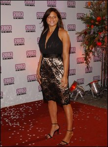 Jade Goody at awards ceremony, 2003