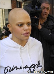 Jade Goody being filmed