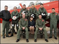 Oliver with the Red Arrows Display Team
