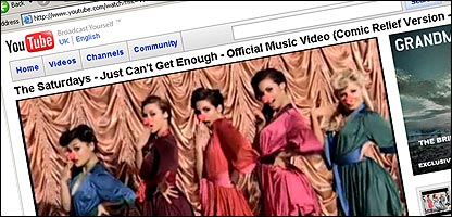 The Saturdays video on YouTube