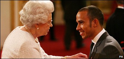 Formula One world champion Lewis Hamilton receives an MBE (Photo by Anthony Devlin/PA Wire)