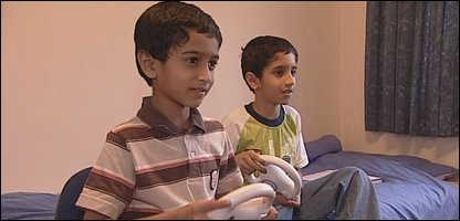 Zohaib (left) with his brother Wajih