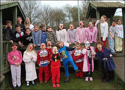 Children from a primary school in Somerset