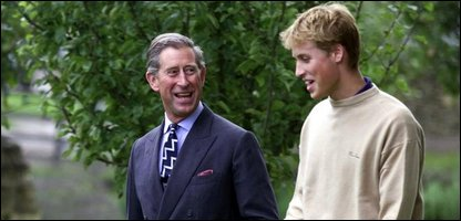 Prince Charles and Prince William just before his gap year