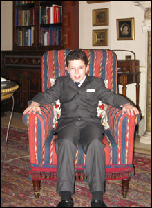 Oscar makes himself at home at Clarence House