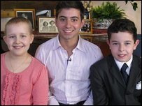 Ricky with Newsround's royal reporters Alice and Oscar