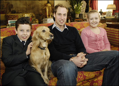 Oscar, Prince William and Alice (Pic: Royal Marsden Hospital / Emma Campbell)