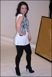 Dani Harmer on a photo-shoot