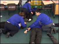 First aid lesson