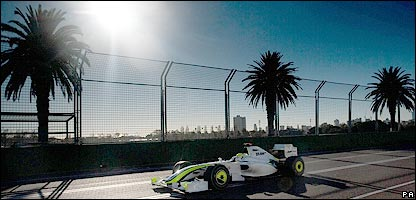Jenson Button at the Australian Grand Prix