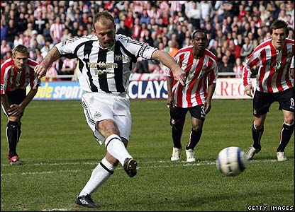 Alan Shearer scores his final goal