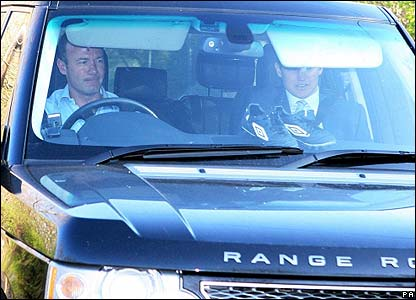 Alan Shearer on his way to training